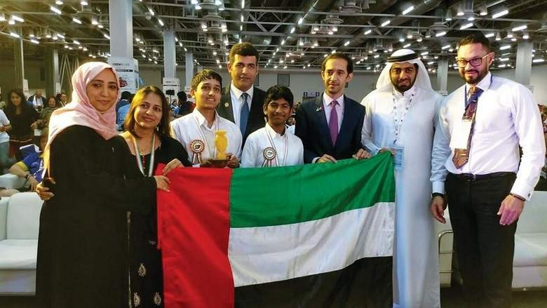 Dubai students' robot wins at World Robotics Olympiad