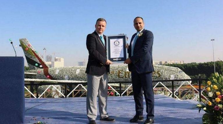 Dubai Miracle Garden A380 sets world record
