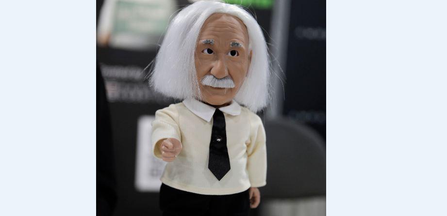 Albert Einstein as an educational robot