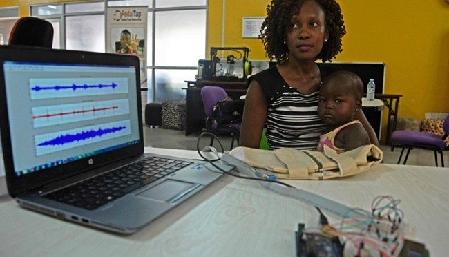 Ugandans invent 'smart jacket' to diagnose pneumonia