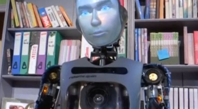"Robot takes to stage in British ""Spillikin"" play"