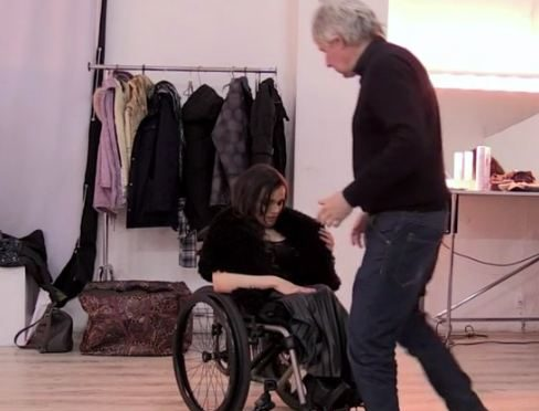 Ukraine's first wheelchair model breaks taboos