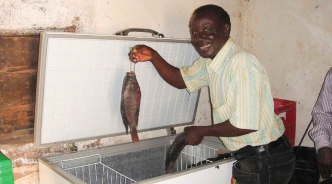Micro-grids powered by the sun boost fortunes of Lake Victoria fishermen