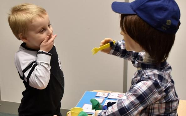 British robot helping autistic children with their social skills