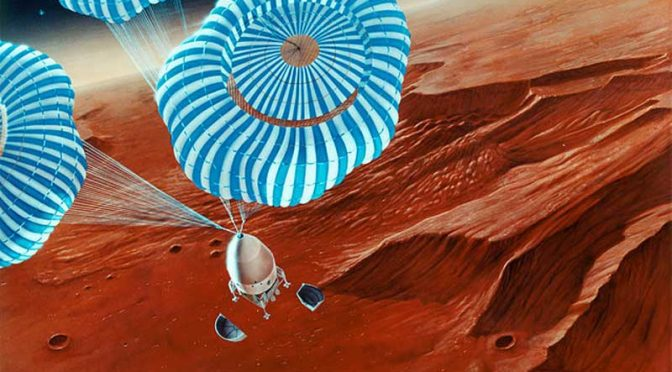 Mars parachute sent high up in key NASA test